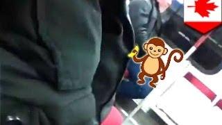 رجل يمارس العادة السرية في قطار في تورنتو