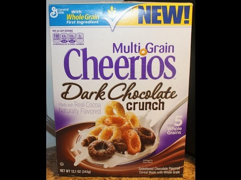 New Multi Grain Cheerios Dark Chocolate Crunch Cereal Taste Test