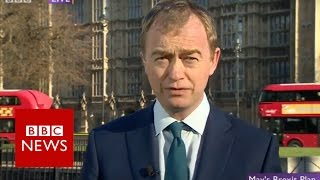 Theresa May Brexit speech 'theft of democracy' says Tim Farron   BBC News