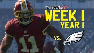 Week 1 vs Eagles!! Madden 18 Redskins Franchise