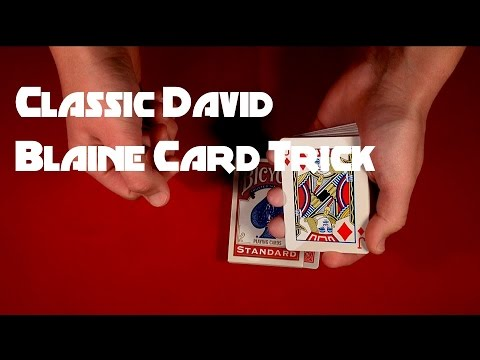 Classic David Blaine Card Trick REVEALED!