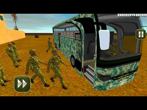 Army Bus Driving 2017 - Military Coach Transporter New Bus Unlocked Android Gameplay