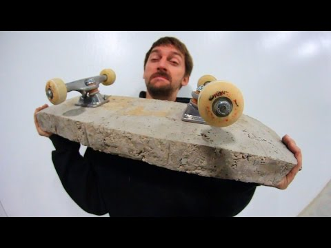 WORLD'S HEAVIEST SKATEBOARD?! (PURE CONCRETE) | YOU MAKE IT WE SKATE IT EP 67