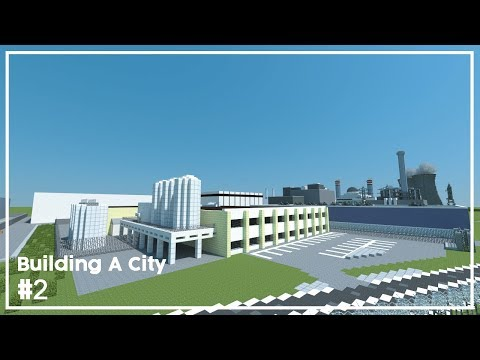 Building A City #2 // Industrial Area // Minecraft Timelapse