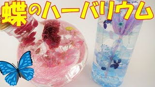 【DIY】ちょうちょの舞うハーバリウム~ Herbarium floating in a butterfly