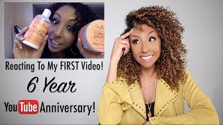 Reacting To My FIRST Video - 6 Year YouTube Anniversary! | BiancaReneeToday