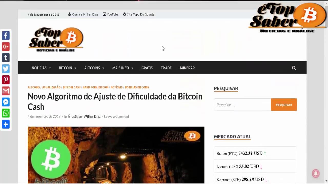 Novo Algoritmo de Ajuste de Dificuldade BCH   Mercado da Bitcoin Cash + Previsão de Preço Para 2018