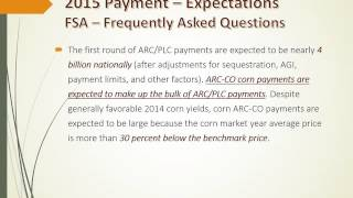ARC County Subsidy Calculations
