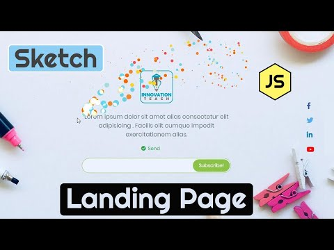 🥇Landing Page Tutorial | Subscribe Page Design Using HTML, CSS, JavaScript & Sketch.js
