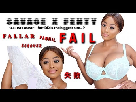 SAVAGE X FENTY by Rihanna BRA/LINGERIE TRY ON FAIL! | VINTYNELLIE