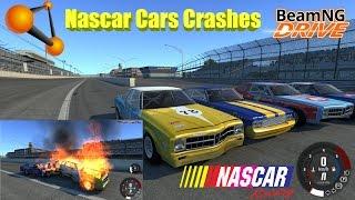 BeamNG Drive: Akron Motor Speedway Nascar Cars Crash Compilation