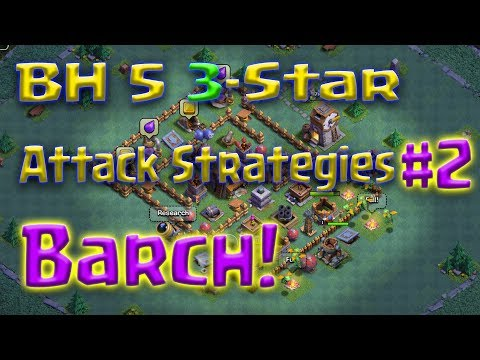 Clash of Clans - BH5 3-star attack strategy (Barch: Barbarians and Archers)