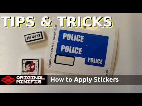 LEGO Tips & Tricks - How To Apply Your Stickers