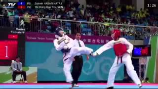 1st Asian Cadet Taekwondo Championships. Final female -55