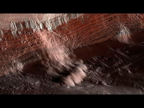 Ice and Dust avalanche captured on Mars by NASA's Reconnaissance Orbiter - iGadgetPro