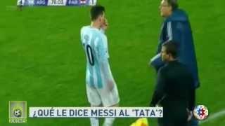 Messi sex tape ordena los cambios al Tata Martino Argentina 6-1 Paraguay Copa América 2015