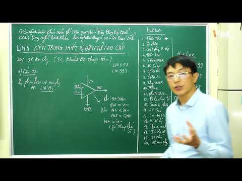 Bài 39: Khóa học linh kiện trong các thiết bị điện tử cao cấp - IC khuếch đại thuật toán