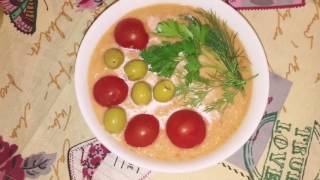 МАЧО-ГАСПАЧО летний овощной холодный суп #рецепт