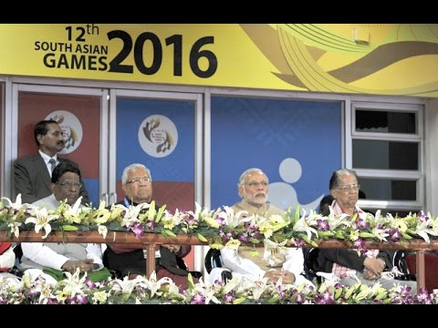 PM Modi at the Inauguration of the 12th South Asian Games in Guwahati, Assam