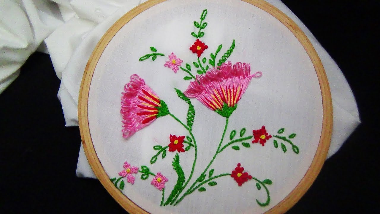 Hand Embroidery Loop Stitch Youtube
