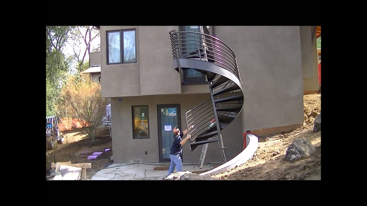 Custom Spiral Staircase Installation   YouTube