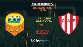 Crucero del Norte vs Atletico Parana full match