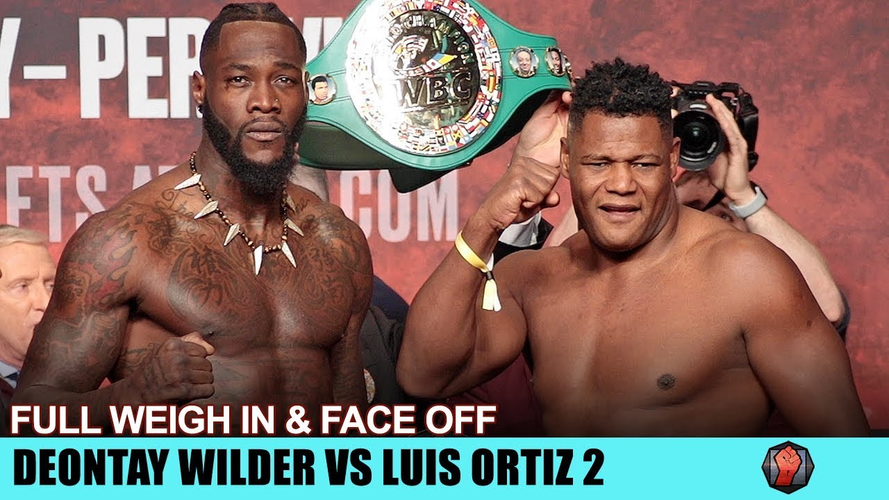 DEONTAY WILDER VS LUIS ORTIZ 2 - FULL WEIGH IN & FACE OFF VIDEO | MGM GRAND