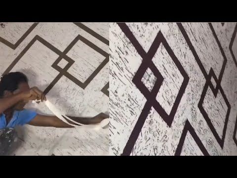 WALL DESIGN IDEAS PUTTY TEXTURE TO DECORATE ROOM