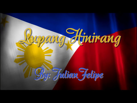 Lupang Hinirang with lyrics