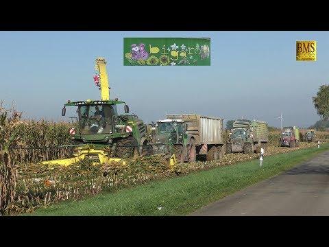 Maishäckseln 2017 Großeinsatz/20 Fahrzeuge - Biogasanlage BiGaRo-Biggest Maisernte -LU Blunk