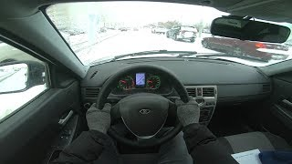 2013 lada priora 1.6L (98HP) POV test drive