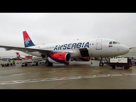 TRIP REPORT | Air Serbia | Berlin Tegel to Belgrade | Economy Class | A319-100 [Full HD]