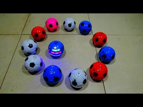 Light Up Spinning Top Soccer Ball Toys! Colorful Flashing Top Toys w/ Flashing Lights!