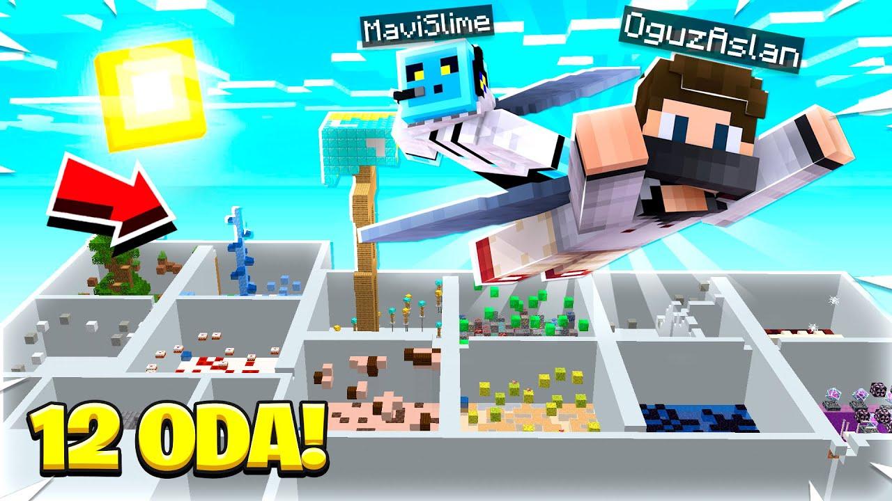 12 ODALI PARKUR - Minecraft w/MaviSlime