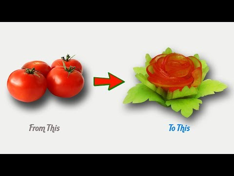 Amazing Designs of Useful Tomato Garnish - Vegetable Carving