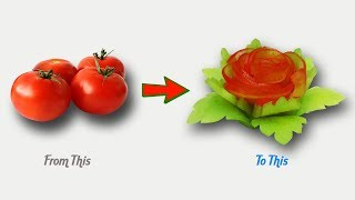 Cover images Amazing Designs of Useful Tomato Garnish - Vegetable Carving & Decorations