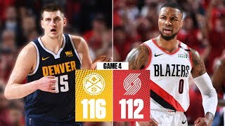 Nikola jokic records a triple-double while jamal murray scores 34 points including some clutch free throws to help the denver nuggets take down portland ...