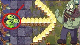 Plants Vs Zombies 2 Battlez: Threepeater Pvz 2 Vs Zomboss: Gameplay 2019