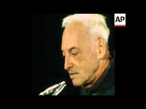 SYND 22 10 76 NOBEL PRIZE WINNER SAUL BELLOW PRESS CONFERENCE