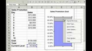 Thermometer Charts/Graphs in Excel.  How to create one and edit it.