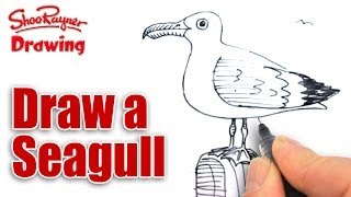 Copy of How to draw a seagull - Shoo Rayner Drawing School