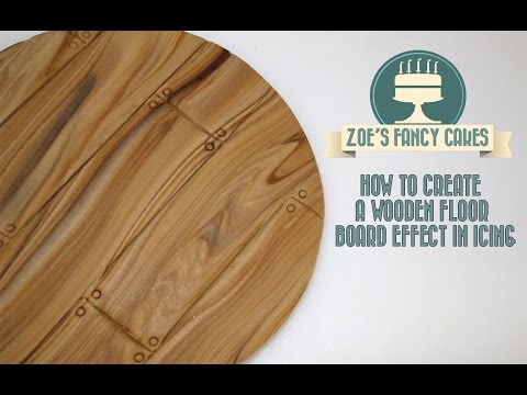 How to make a wooden floor board effect in icing for cake decorating How To Tutorial
