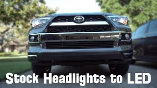 Stock Headlights to LED - 4Runner Headlights to LED