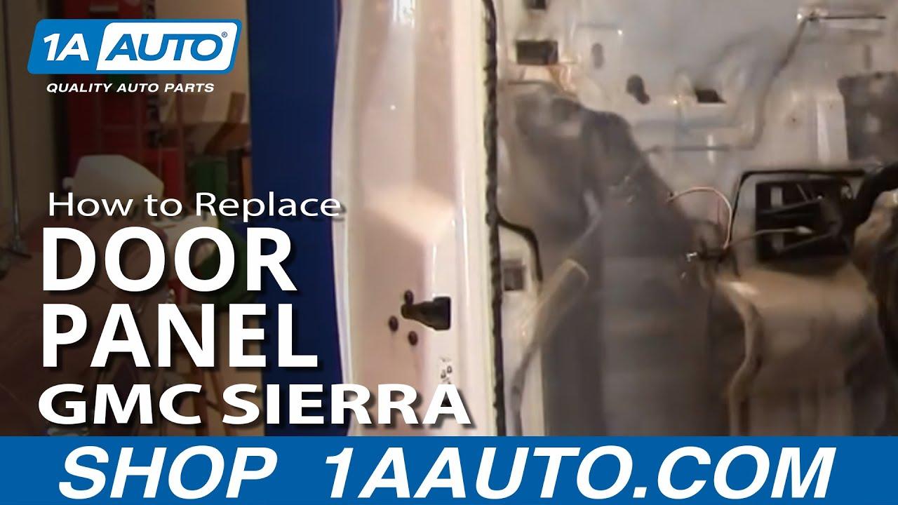 How To Install Remove Rear Door Panel 99 02 Gmc Sierra