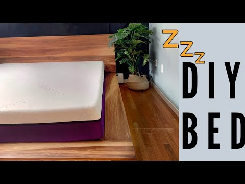 DIY BED - How To Build A Modern Platform Bed With PolySleep Canada