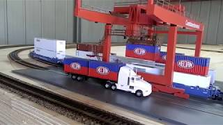 """ HELJAN CONTAINER TERMINAL UNLOADING"" Model Trains Part 10 ""B"""