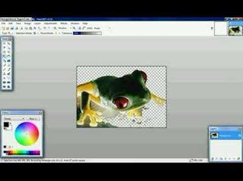 how to create a transparent image in paint.net