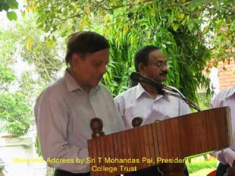 Sri T Mohandas Pai, President of MGM College Trust