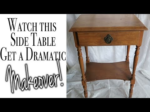 How to Update an End Table ~ How to Paint Furniture ~ Before & After ~ Relaxing DIY ASMR