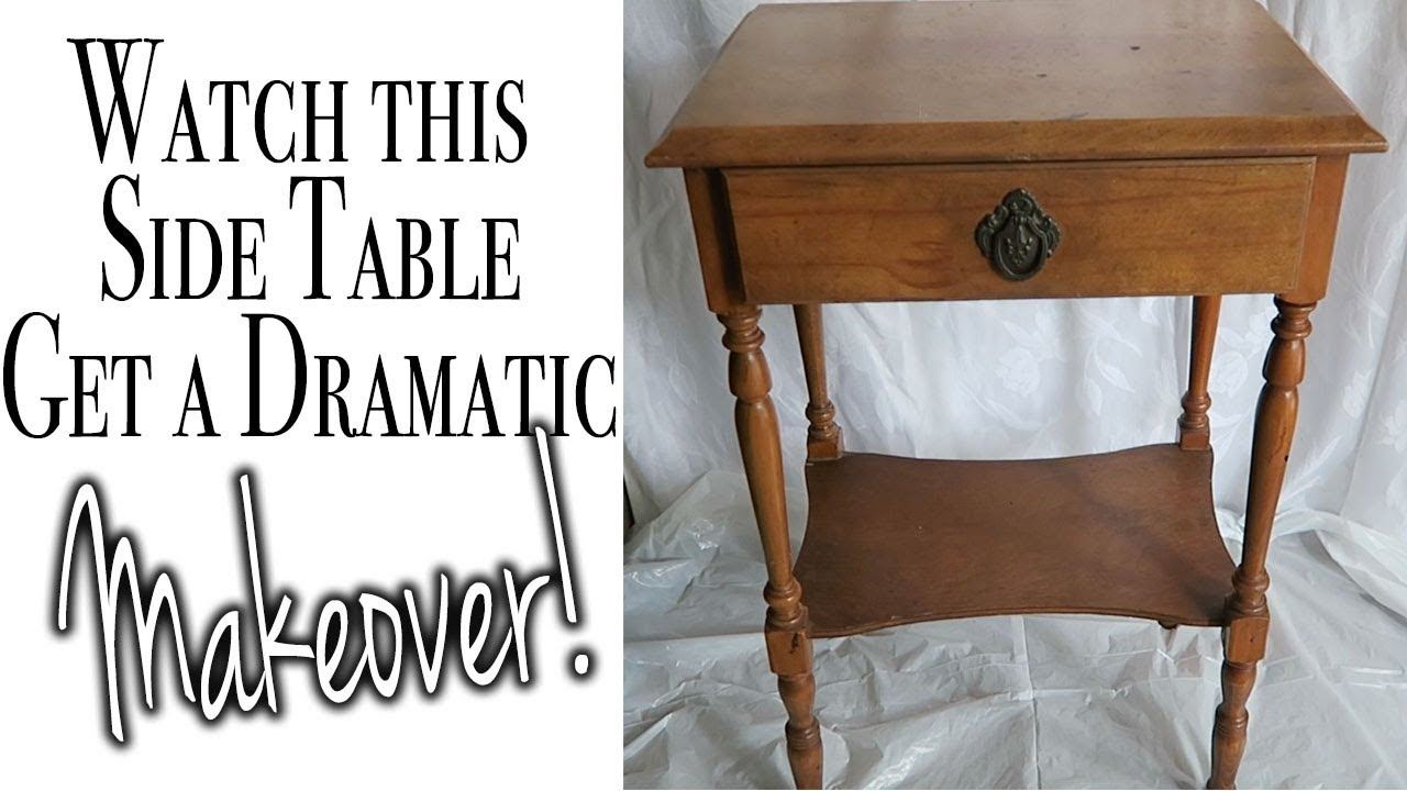 How To Update An End Table How To Paint Furniture Before After Relaxing Diy Asmr Youtube